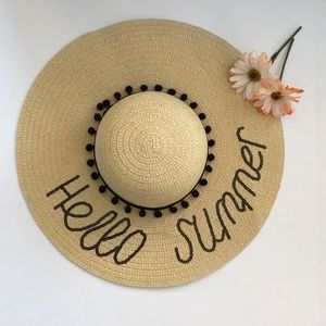 Accessories - 🌻'HELLO SUMMER' SEQUIN AND STRAW HAT🌻